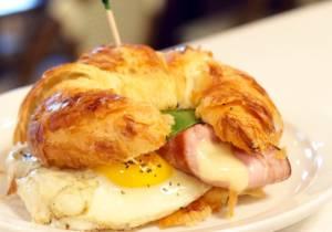 Delicious morning sandwich