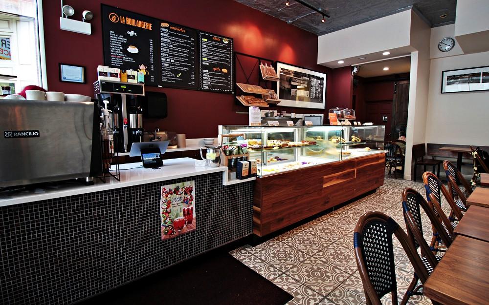Inside of La Boulangerie Belmont